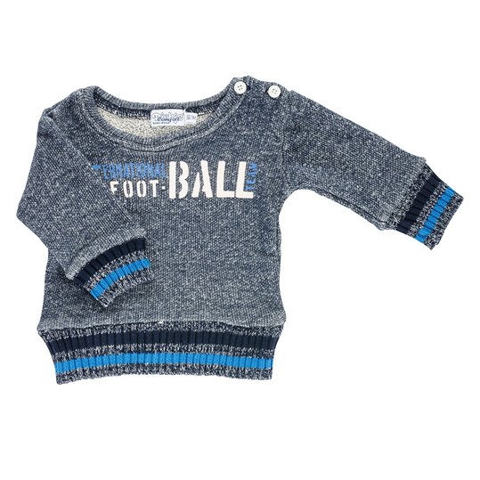 Sweatshirt Football - Navy Blau - Gr. 74