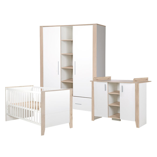 roba kinderzimmer sam mit 2 t rigem schrank bett wickelkommode. Black Bedroom Furniture Sets. Home Design Ideas