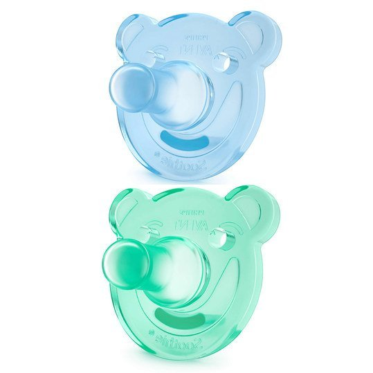 Soother 2 pack Soothie - Silicone 0-3 M - SCF194/01 - Blue Green