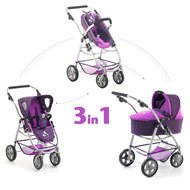 Kombi-Puppenwagen 3 in 1 Emotion All In - Pflaume