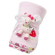 2-pcs. set cuddly blanket Sweetheart + roe deer gripper 75 x 100 cm