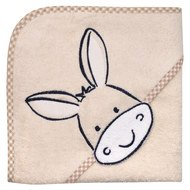 Hooded bath towel 80 x 80 cm - Donkey nature