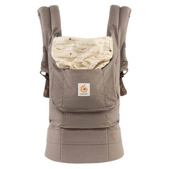 Babytrage Original Love Notes - Braun Beige