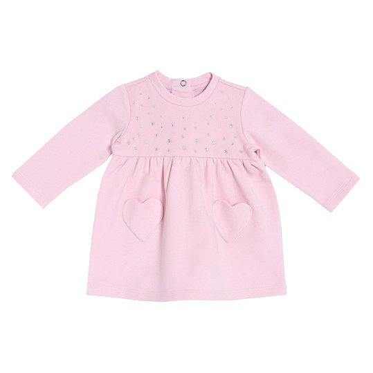 Kleid Sweat - Strass Rosa - Gr. 62