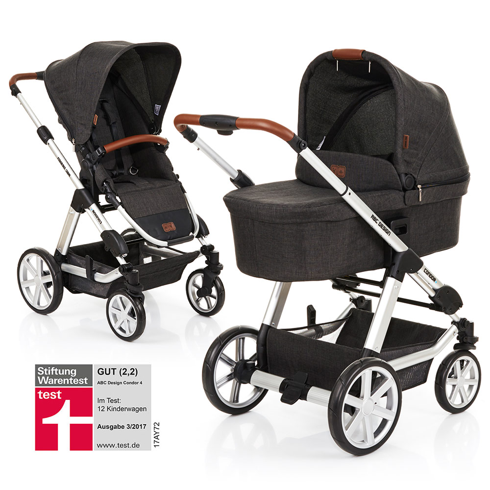 abc design kombi kinderwagen condor 4 sportwagen babywanne. Black Bedroom Furniture Sets. Home Design Ideas