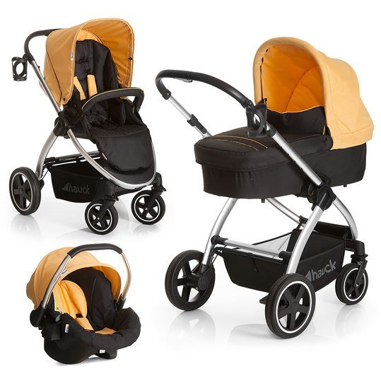 Kinderwagen-Set Priya Trio Set - Caviar Banana