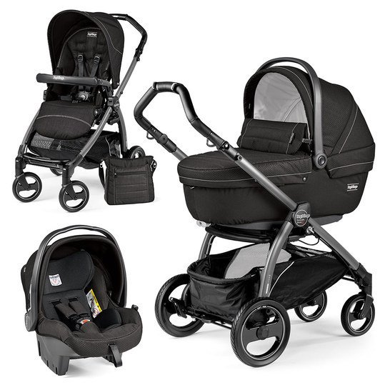 Kinderwagen-Set Book Plus S XL Sportivo Modular Gestell Jet / Anthrazit - Mod Black