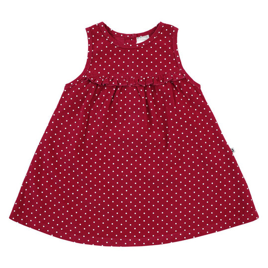 Kleid Cord - Punkte Rot - Gr. 62