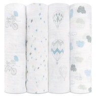 Mullwindel 4er Pack Classic Swaddles 120 x 120 cm - Night Sky Reverie
