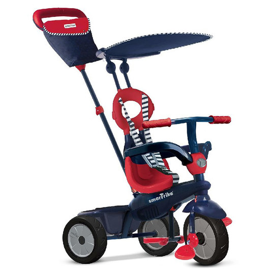 Dreirad Vanilla 4 in 1 mit Touch Steering - Navy Red