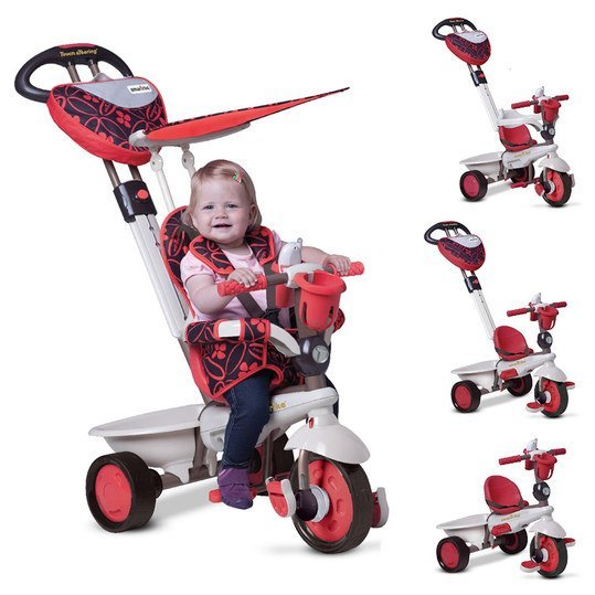 Dreirad Dream 4 in 1 mit Touch Steering - Red