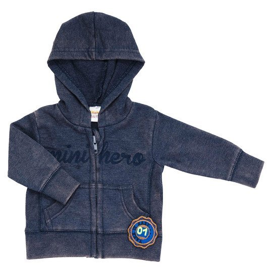 Sweatjacke Mini Hero Gr. 62 - Navy