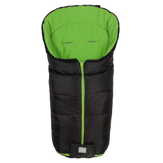 Fleece-Fußsack Eco Big - Schwarz Grün