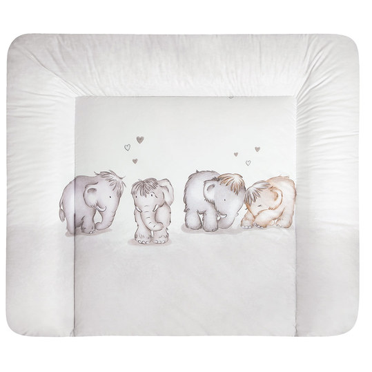 Folien-Wickelauflage Softy - Mammuts in Love - Beige
