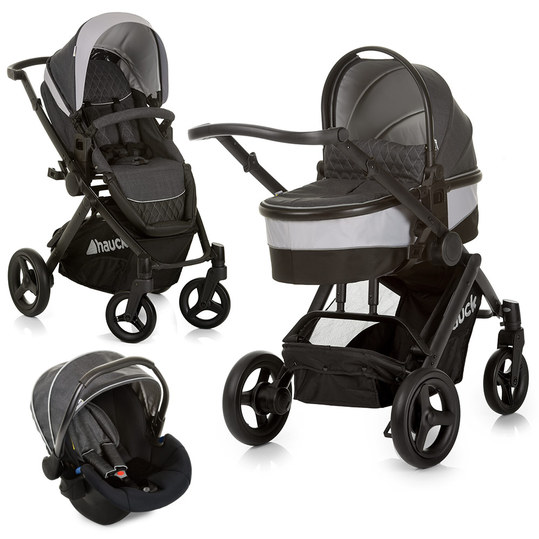Kinderwagen-Set Maxan 4 Plus Trio Set - Melange Charcoal