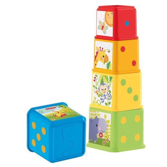 Stacking cubes - Colourful