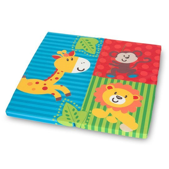 Laufgitter-Matratze Slepper SQ - 90 x 90 cm - Jungle Fun