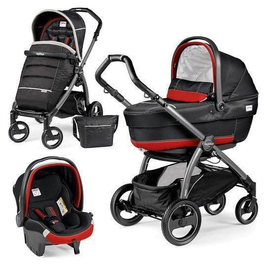Kinderwagen-Set Book Plus S XL Completo Modular Gestell Jet / Anthrazit - Synergy