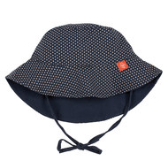 Wende-Hut - Polka Dots Navy
