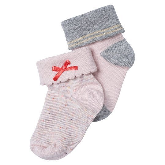 Socken 2er Pack Cypress - Rosa Melange - Gr. 3 - 6 Monate