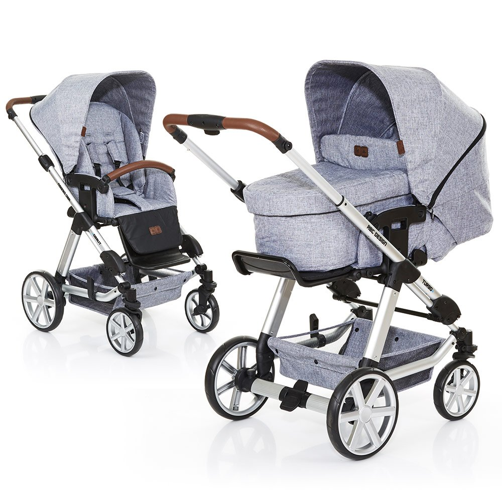 ABC Design Kombi-Kinderwagen Turbo 4 - Graphite Grey 61289 701