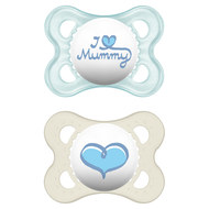 Dummy 2-pack Original - Silicone 0-6 M - I love Mummy - for boys