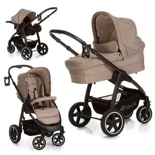 Kinderwagen-Set Soul Plus Trio Set - Melange Beige Almond