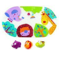 Bath mat with 3 spray animals - Jungle Safari