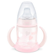 PP-Trinklernflasche First Choice 150 ml - Silikon-Trinktülle - Baby Rose