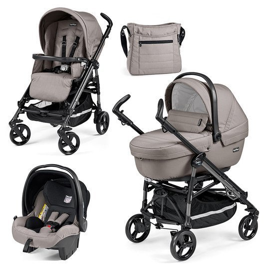 Kinderwagen-Set Switch Four XL Sportivo Modular Gestell Anthrazit - Mod Beige