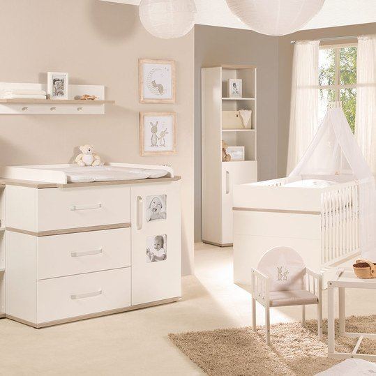 roba sparset kinderzimmer moritz baby mit bett breiter wickelkommode. Black Bedroom Furniture Sets. Home Design Ideas