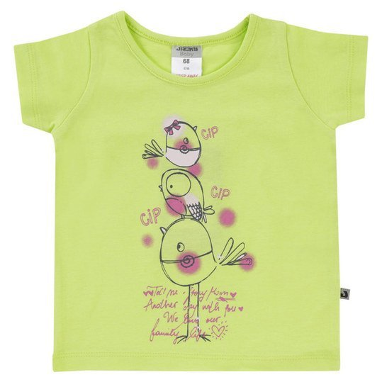 T-Shirt Basic Line - Girls - Limone - Gr. 74