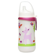 Trinklernflasche First Cup 330 ml - Silikon-Trinktülle - Reh - Pink