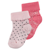 Socken 2er Pack - Mechau Rosa Pink - Gr. 0 - 3 Monate
