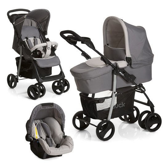 hauck kinderwagen set shopper slx trio set stone grey. Black Bedroom Furniture Sets. Home Design Ideas