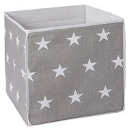 Storage box Little Stars - Grey