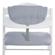 Deluxe high chair mat - Stretch Grey